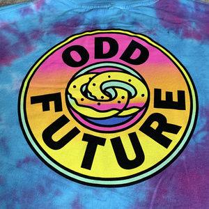 Odd Future OFWGKTA tie dye donut tee L